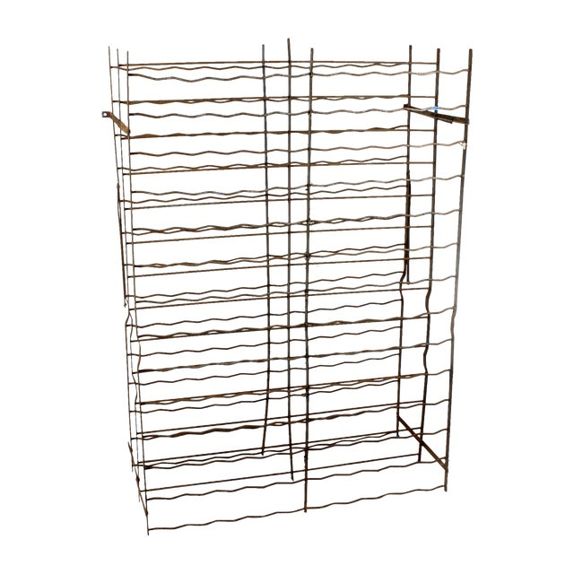 French Industrial Cage-Style Wine Rack - Image 1 of 3