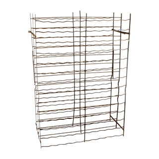 French Industrial Cage-Style Wine Rack