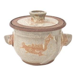 Large Vintage Studio Pottery Double Handled Lidded Pot