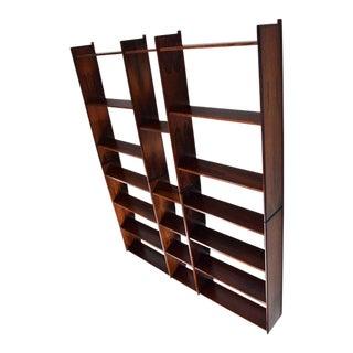 Danish Modern Rosewood Bookcase Wall Unit