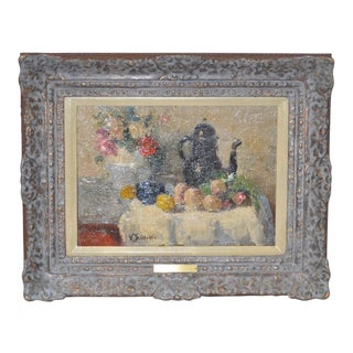 Early 20th Century Still Life Painting by Belgian Master Victor Simonin