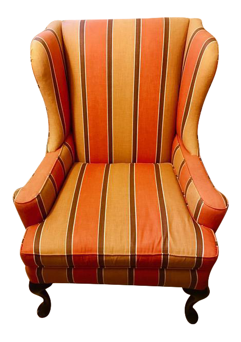1970u0027s vintage pearson wingback chair