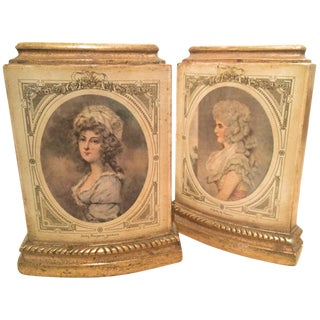 Pair of Borghese Bookends With Male and Female Figures