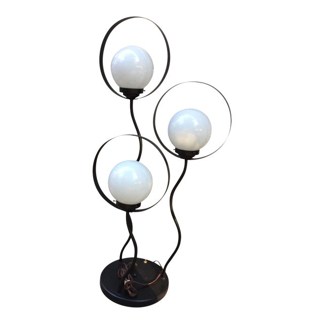 Mid Century Orb Lamp: Mid Century Modern Space Age 3 Orb Table Lamp