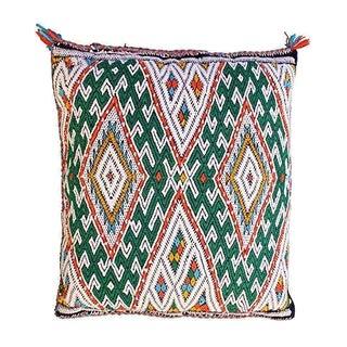 Moroccan Green & Orange Pillow Cover