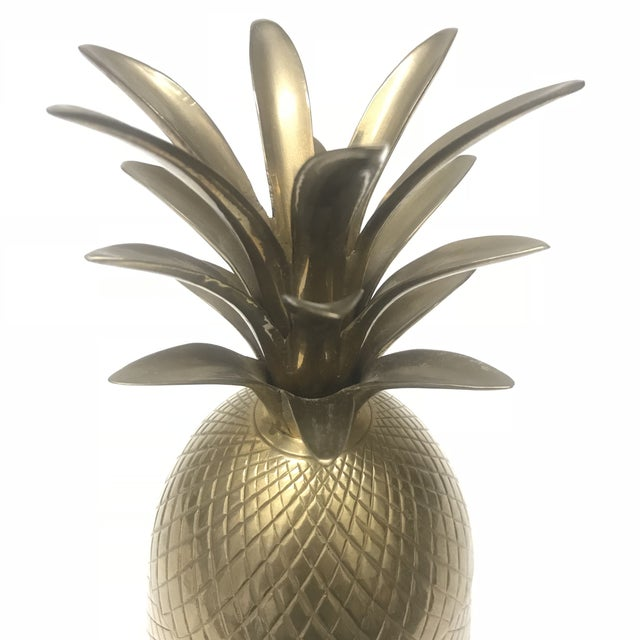 Vintage Brass Pineapple Container - Image 3 of 4