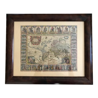 Vintage Framed Maps 1589-1670 by Speed, Ortelius, Hondius & Jansson