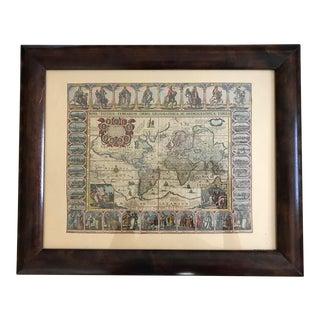 Vintage Framed Maps 1589-1670 by Speed, Ortelius, Hondius & Jansson