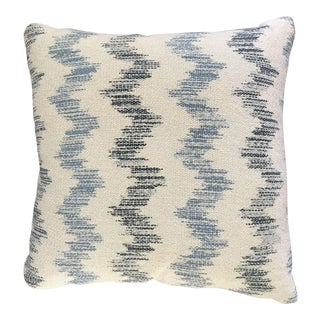 Custom Blue and White Chevron Pillows - a Pair