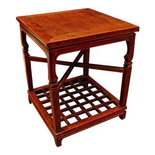 A Chinese Two Tier Side Table