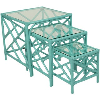 David Francis Chippendale Nesting Tables - Set of 3