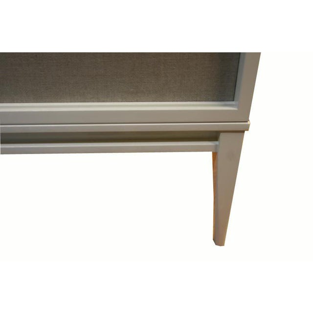 Customizable Bishop Lacquered Linen Door Console - Image 4 of 10
