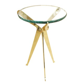 "Customizable ""Fiore"" Brass Side Table by Gaspare Asaro-Small Version"