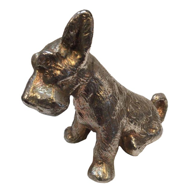 Image of Vintage Scottish Terrior Dog Statue