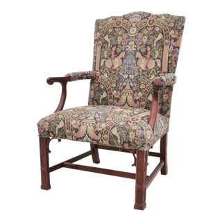 Southwood Chippendale Mahogany Library Chair