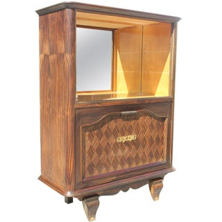 French Art Deco Dry Bar in Macassar Ebony