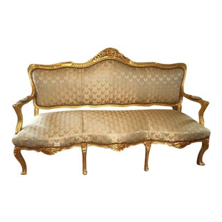 French Gilt Sofa in the Style of Louis XVI