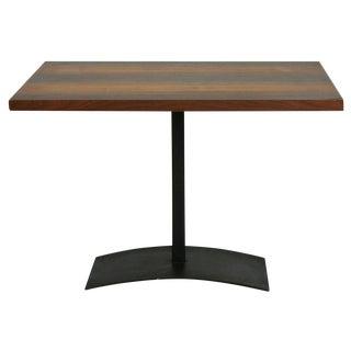 Milo Baughman Rosewood & Black Iron Occasional Table