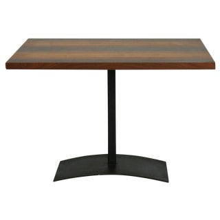 Milo Baughman Rosewood & Black Iron Occasional Table