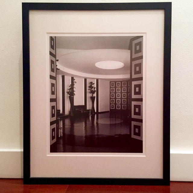B&W Framed Geometric Art Deco Foyer Print - Image 2 of 4