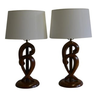 Yasha Hefeitz Mid-Century Modern Lamps- A Pair