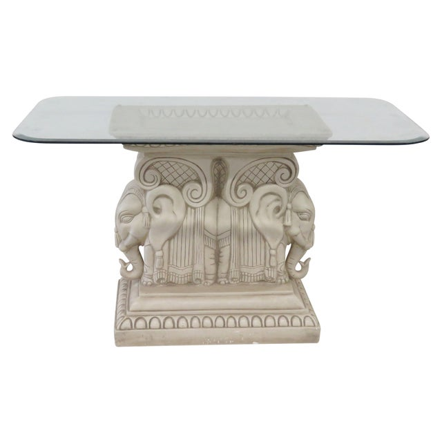 Image of Red Field Style Elephant Center Table