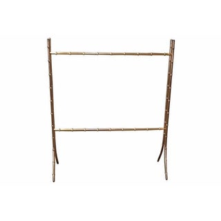Brass Faux-Bamboo Valet Rack