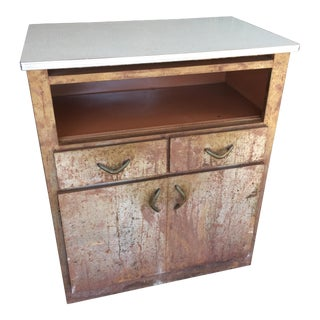 Industrial Chic Formica Top Metal Cabinet