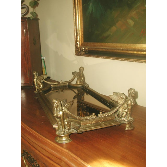 Early 1900's Bronze Mythological Mirrored Plateau - Image 7 of 8