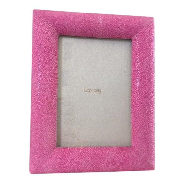 Image of Hot Pink Shagreen Frame
