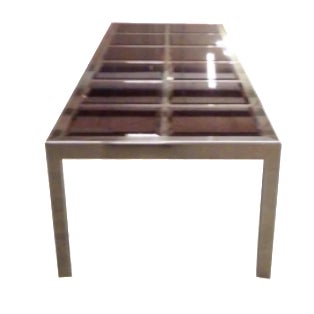 Mastercraft Brass & Mirror Table