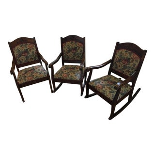 19th Century Parlor Chairs - Set of 3
