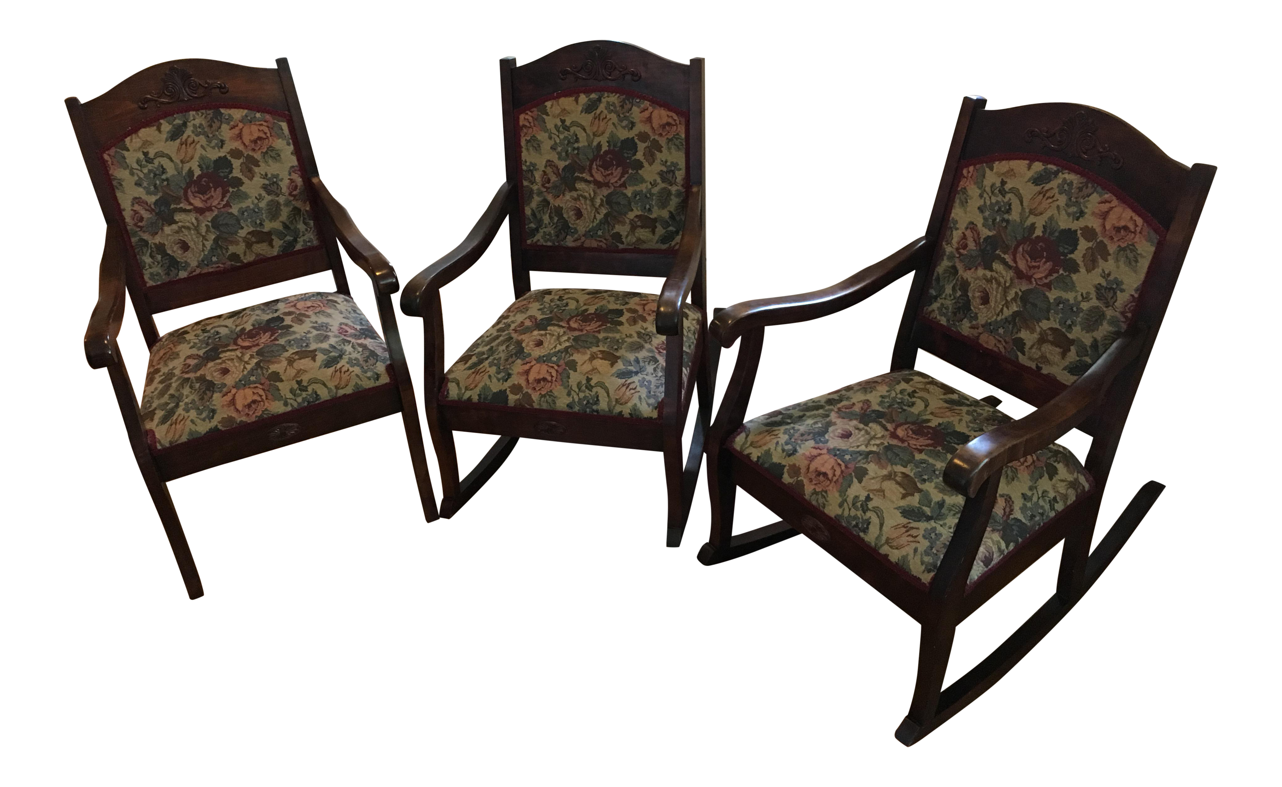 19th Century Parlor Chairs   Set Of 3   Image 1 Of 8