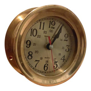 Brass Nautical Bulkhead Clock
