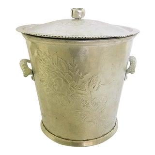 Aluminum Ice Bucket With Pyrex Insert