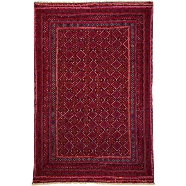 """New Traditional Hand Knotted Area Rug - 6'3"""" x 9'6"""" - Image 1 of 3"""