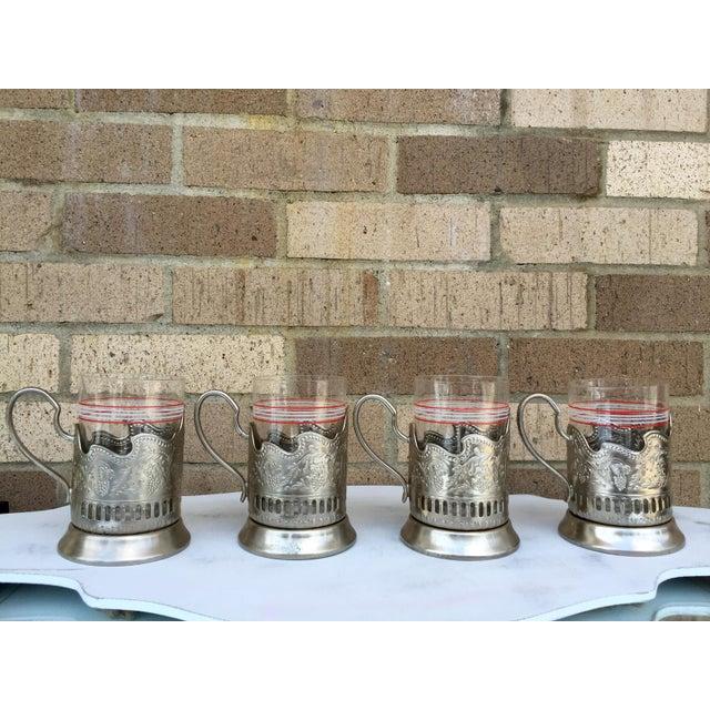 Russian Tea Glasses - Set of 4 - Image 4 of 5