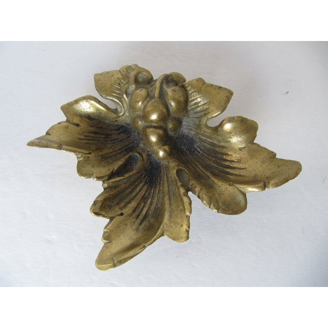 Brass Grape Leave Catchall - Image 2 of 5