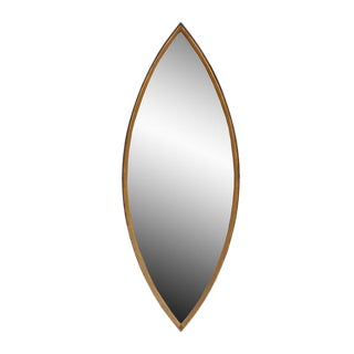GOLD-LEAF POINTED OVAL MIRROR