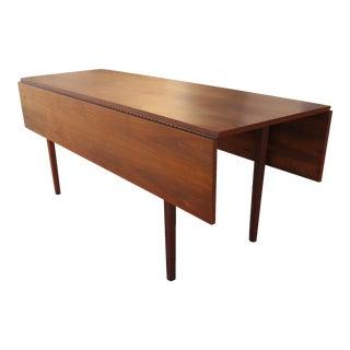 Mid-Century Modern Walnut Drop Leaf Table