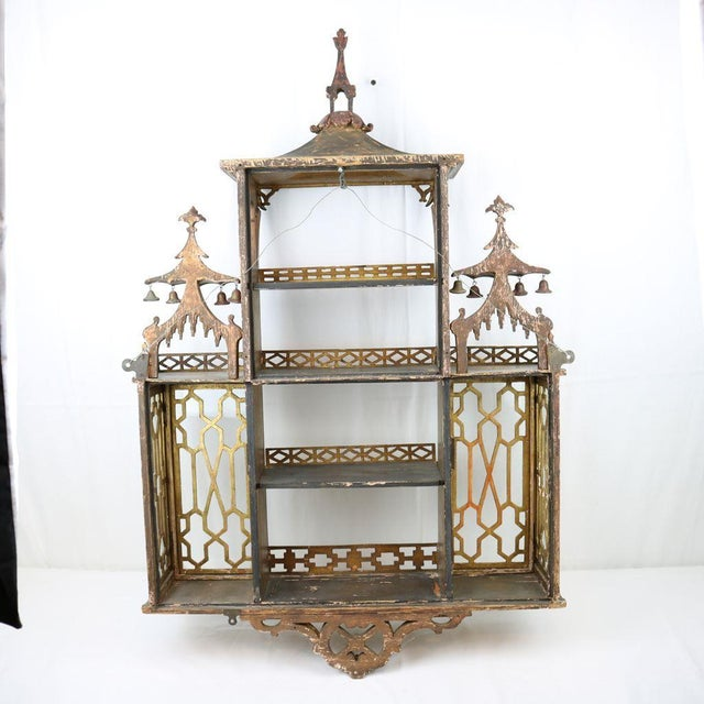 Chinese Chippendale Hanging Pagoda Wall Shelf - Image 10 of 11