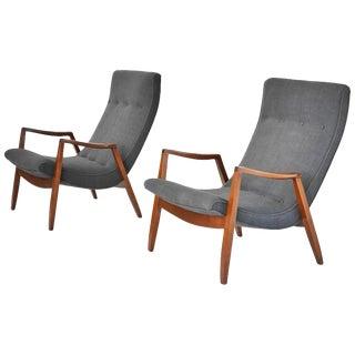 Milo Baughman Scoop Chairs - A Pair