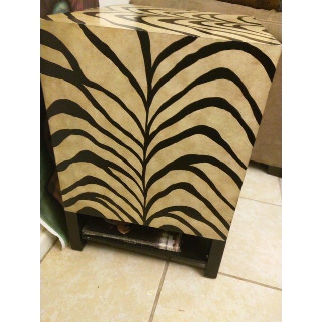 Zebra Print Side Tables - A Pair - Image 4 of 5
