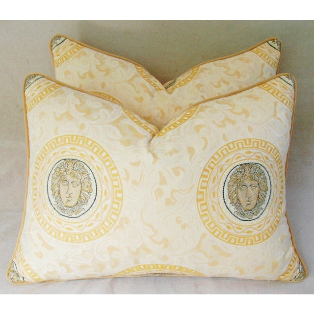 Custom Italian Versace-Style Medusa Pillows - Pair - Image 2 of 9