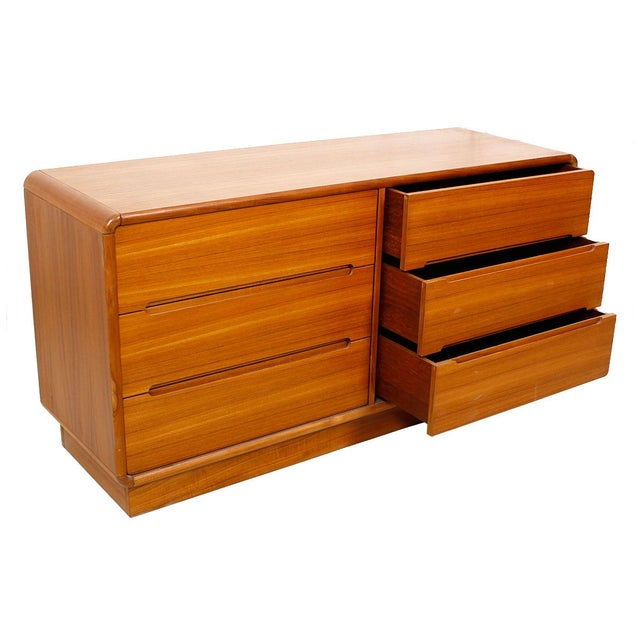 Image of Teak Compact Dresser with Six Drawers