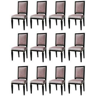 Mason Jansen Style Dining Chairs - Set of 12