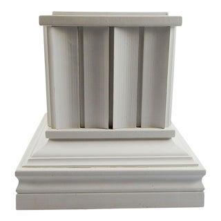 Custom Made White Wood Pedestal