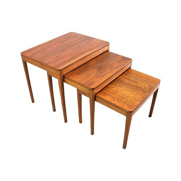Kipp Stewart Walnut Nesting Tables - Set of 3 - Image 1 of 5