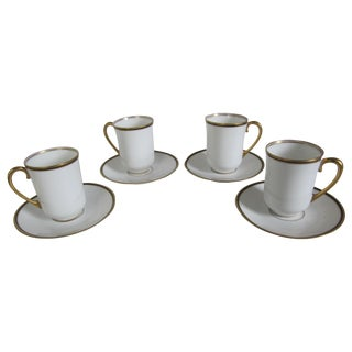 Old Abbey Limoges Cups & Saucers - Set of 8