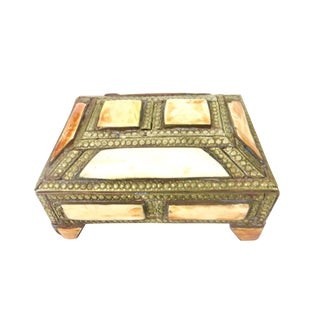 Brass and Bone Inlay Box